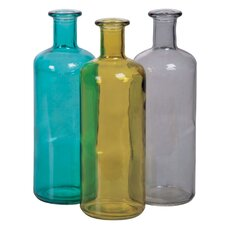 Vintage Inspired Decorative Bottle (Set of 3)