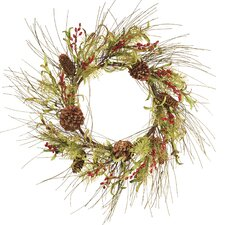 Tipped Pine Berry Wreath