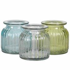 3 Piece Pressed Edged Vase Set