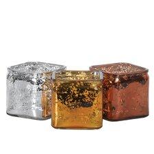 3 Piece Mercury Cube Vase Set
