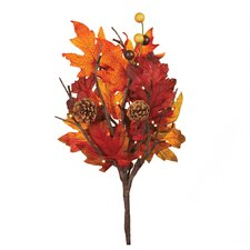 Exclusive! Lighted Maple Leaf Stem
