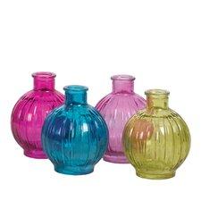 Vintage-Style Colored Bottle Vase