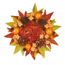 Fall Pomegranate Berry Cone Candle Climber