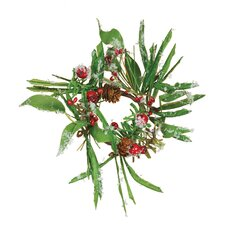 Berry Ice Pine Cone Candle Ring