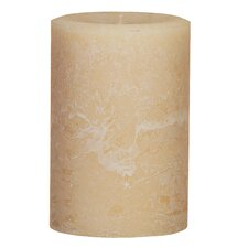 Weathered Vanilla Pillar Candle