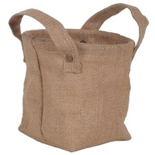 Decorative Burlap Storage Bag (Set of 2)