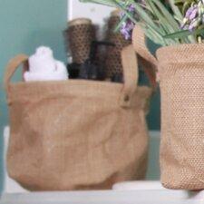 Decorative Burlap Storage Bag (Set of 2)