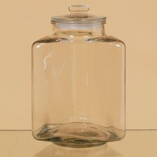 Triangular Shaped Terrarium Glass Vase with Lid