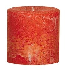 Weathered Pumpkin Pillar Candle