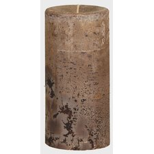 Weathered Latte Pillar Candle