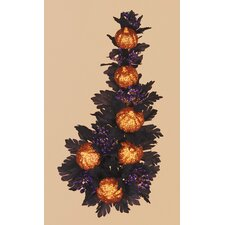 Halloween Glitter Pumpkins Maple Candle Climber