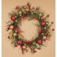 Glitter Ornament Wreath
