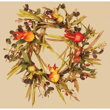 Fall Grass Pomegranate Candle Ring