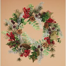 Berry Pinecone Ivy Glitter Wreath