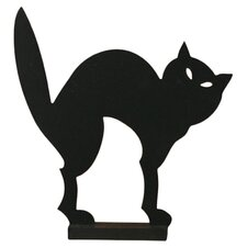 Wood Cat Silhouette