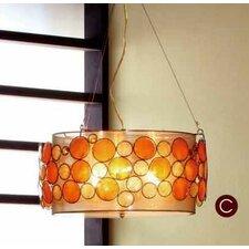 Capiz Shell 3 Light Pendent