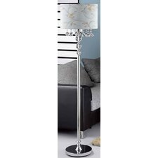 <strong>OK Lighting</strong> Crystal Ball Floor Lamp