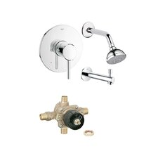 Concetto Diverter Tub and Shower Faucet