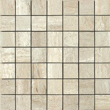 "<strong>Samson Tile</strong> Travertini 2"" x 2"" Matte Mosaic Floor and Wall Tile in Beige"