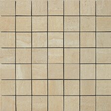 "<strong>Samson Tile</strong> Travertini 2"" x 2"" Matte Mosaic Floor and Wall Tile in Cream"