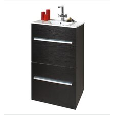 Zola 60cm Basin and Floor Standing Unit in Black