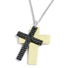 <strong>U Name it Jewelry</strong> Stainless Steel Cross Pendant