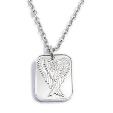 <strong>U Name it Jewelry</strong> Stainless Steel Winged Pendant