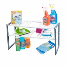 "15.33"" Adjustable Under Sink Two Shelf Shelving Unit"