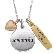 """Sterling Silver """"My Mother, My Friend"""" Charm Pendant"""