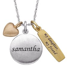 "Sterling Silver ""My Daughter, My Friend"" Charm Pendant"