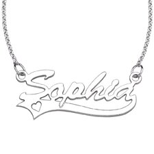 Sterling Silver Script Necklace