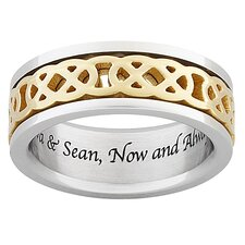Men's Titanium Celtic Knot Spinner Band