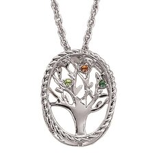 Family Tree Birthstone Necklace - 3 stone