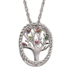Family Tree Birthstone Necklace - 6 stone