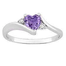 Heart Cut Gemstone Ring