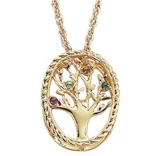 Family Tree Birthstone Necklace - 4 stone