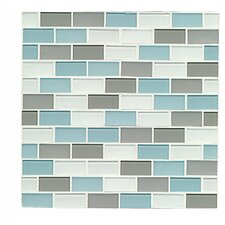 Mosaic Staggered Joint Gloss/Matte Combo Tile in Pacific Heights