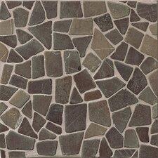 Hemisphere Crazy Stone Glazed Mosaic Tile in Sumatra