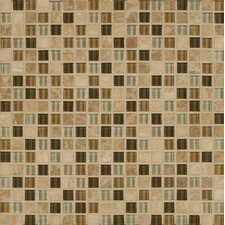 "<strong>Bedrosians</strong> 12"" x 12"" Stone Mosaic Blend Tile in Allure"