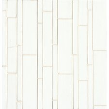 Random Sized Mosaic Linear Pattern Palladium White