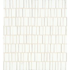 Random Sized Mosaic Tile in Palladium White