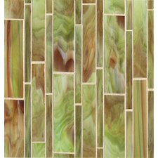 "12"" x 11.50"" Mosaic Linear Pattern Tile in Sublime"