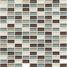 <strong>Bedrosians</strong> Mosaic Mini Brick Blend Gloss in Seaside Hamptons Glass