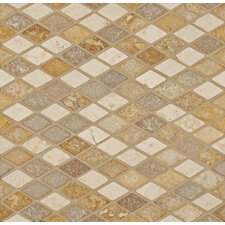 "1-3/4"" x 1"" Stone Mosaic Blend Artician Diamond"