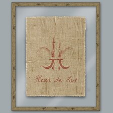 <strong>Epic Art</strong> Red Fleur De Lis Wall Art