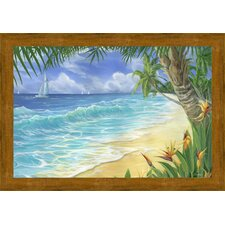 Birds of Paradise Framed Painting Print