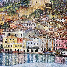 'Malcena at the Gardasee' by Gustav Klimt Painting Print on Canvas