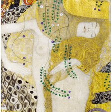 'Water Serpents' I by Gustav Klimt Painting Print on Canvas