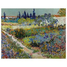 'Flowering Garden' by Vincent Van Gogh Painting Print on Canvas