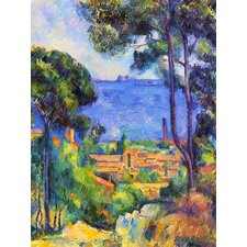 'The Sea at L'Estaque' by Cezanne Painting Print on Canvas